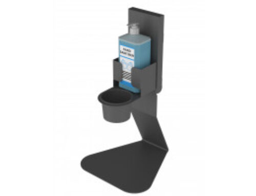 Tabletop disinfection stand for manual dispenser TDM-1