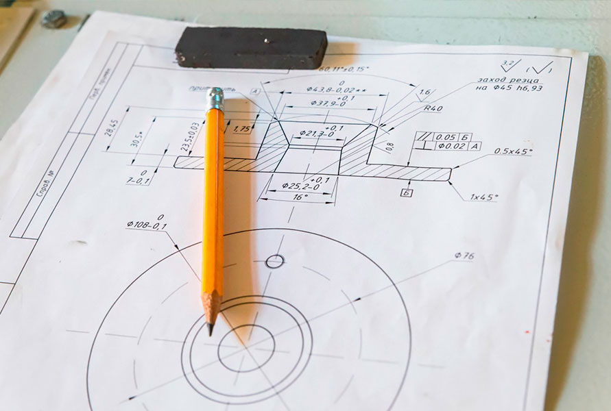 production of parts according to customer drawings